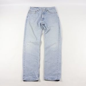 Vtg 90s Levis Mens 33x32 505 Straight Leg Jeans
